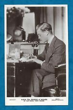 1925 RP PC PRINCE OF WALES AT DESK, YORK HOUSE FUTURE EDWARD VIII OLD TELEPHONE