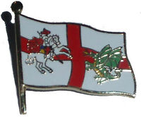 England pin badge - England flag + St George and Dragon