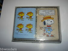 Vintage Peanuts Snoopy Stancraft Plastic Coated Playing Cards. Plastic Boxed