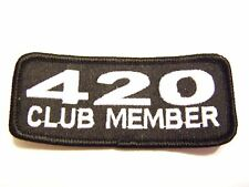 #0060 Motorcycle Vest Patch 420 CLUB MEMBER