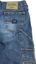 Silver Carpenter Low Rise Capri 100% Cotton Distressed Blue Jeans Women's 31x25