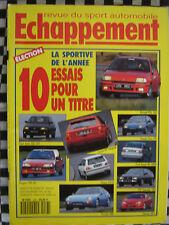 ECHAPPEMENT 1991 NISSAN SUNNY GTI-R / VW CORRADO VR6 / RENAULT CLIO 16s / 968