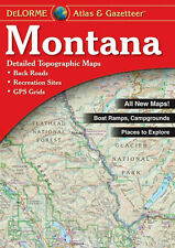 NEW Delorme Montana MT Atlas and Gazetteer Topo Road Map Topographic Maps