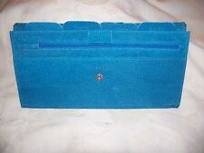 Turquoise Suede Travel wallet. New.