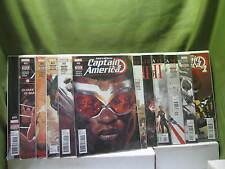 Lot 12 Captain America Sam Wilson  #1,2,10,11,12,13,14,15,16,17,18,19  See Below