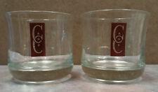 "Captain Morgan Rum ""Captain & Cola"" C and C Logo Heavy Glass Unique Style!"