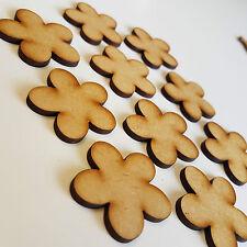 Paquete De 10 X 50mm de madera de MDF decoración de flores en la nube formas