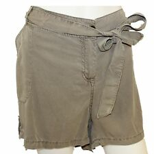 e56abbaa0b5 BRANDED Ladies Womens Light Khaki Summer Shorts Zip Button Fly Tie Waist  Size 20