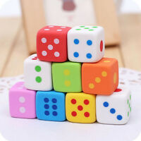 3PCS Dice Shape Rubber Pencil Eraser Novelty Students Stationery Gift Toy