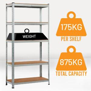 Racking Shelf Heavy Duty 5 Tier Garage Shelving Storage Shelves Unit 180x90x40cm