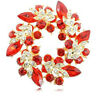 Bouquet Broach Pin Wedding Bridal Fashion Rhinestone Crystal Brooch Flower