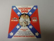 Terry Labonte Signed Autographed 1980 Southern 500 Program 1st Win NASCAR