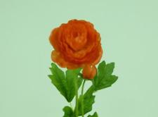 Orange Ranunculus With Bud Silk Flowers Pack 12 Stems