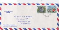 Penrhyn islands  northern cook islands  Alofi  O.H.M.S. stamps  cover  R19981