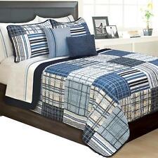 Duncan Plaid Printed Bedding 3 Piece / Bedspread Coverlet Quilt Set