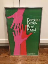 "Rare 1976 Gilbert Lesser ""Best Friend"" Broadway Window Card Barbara Baxley"