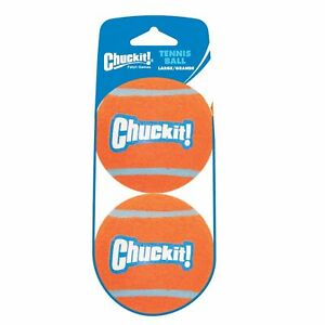 Chuckit TENNIS BALL Dog Fetch Toy Large 2 pack High Visibility Large Dogs 3 inch