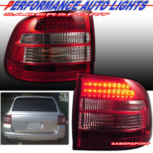 Set of Pair Red Lens LED Taillights for 2003-2006 Porsche Cayenne