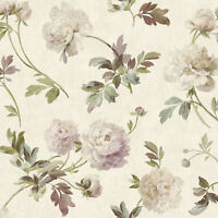 York Whitworth Peony Wallpaper in Greens, Pinks & More   GX8151  per Double Roll