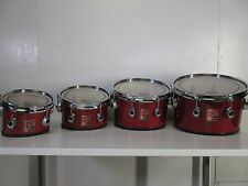 """Premier 8-10-12-13"""" Revolution Marching Tenors - Red Lacquer Marching Drums"""