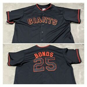 90s VTG BARRY BONDS San Francisco GIANTS XXL Jersey Sewn Black Stitched MLB