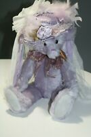 Lavender Vintage Artist Bear by Linda Winstead of Birch Tree Bears - Jointed 21""