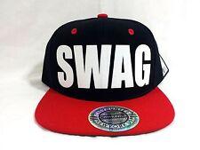 SWAG BLACK/RED (FLOCK) Snapback Cap