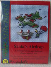 Mouseloft stitchlets CROSS STITCH KIT ~ Santa's lancio ~ Natale ~ NUOVO
