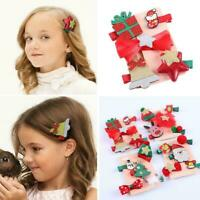 5pcs/Set Children's Christmas hair clip baby hair accessories Christmas gif C1U1