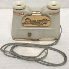 Rare 1950s Subminiature BINOCA BINOCULAR CAMERA, w/ strap, manual, box, cap