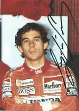 Ayrton Senna (deceased) McLaren Team Overalls Signed Portrait Photo Card
