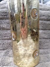 "Department 56 Candle Holders 10-1/4"" X 5"" Gold Crackle With Jewels, Glass"