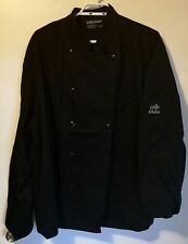 Chef Choice Chefs Jacket XL Black Cotton Polyester Blend