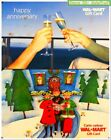 2x WALMART CHRISTMAS CAROL HAPPY ANNIVERSARY CHEERS COLLECTIBLE GIFT CARD LOT For Sale