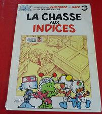 Rare French Comic Les Aventures D'Électrozz et Bozz La Chasse au Indices ! No.3