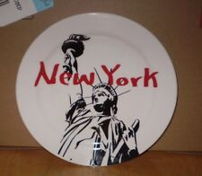 EIGHT INCH STATUE OF LIBERTY NEW YORK PLATE