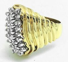 GENUINE 0.75 Carats COCKTAIL DIAMOND RING 14K GOLD *** FREE APPRAISAL SERVICE **