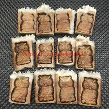 Natural Carved Owl Quartz Crystal Cluster Point Owl skull Specimen reiki Healing
