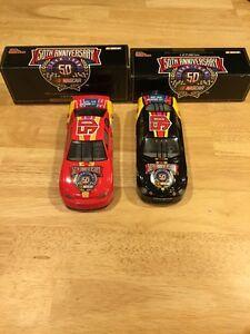 2 CAR SET 1998 50th ANNIVERSARY NASCAR 1:24 RACING CHAMPIONS TAURUS MONTE CARLO
