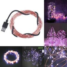 100 LEDs 5V Mini LED Light 500 LM USB Copper Wire String Fairy Xmas Lights 10M