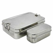 Lunch Box Stainless Steel Tiffin Box Rectangular Carrier Set Food Container