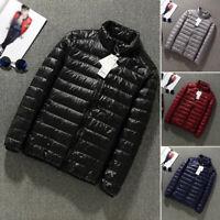 Packable Lightweight Men's 90% Duck Down Jacket Outerwear Winter Coat Puffer