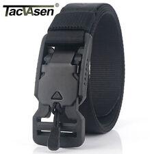 TACVASEN 1'' Width Men's Pants Belts Magnetic Auto Buckle Adjustable Nylon Belt