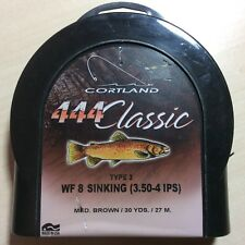 Cortland 444 Classic WF8 Sinking Med Brown