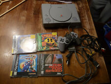 Working Sony Playstation 1 PS1 One SCPH-7501 Console Bundle Lot with 4 Games