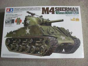 New 1/16 Tamiya 2 Channel Radio Control US M4 Sherman 105mm Howitzer DMD T01