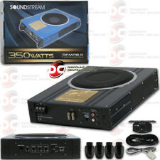 NEW UNDER THE SEAT SUPER SLIM POWERED CAR SUBWOOFER ENCLOSED 350 WATTS MAX