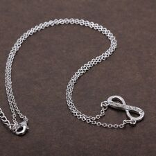 QVC Diamonique cz Steel by Design Heart Infinity Necklace-Adjustable