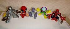 3 Marvel Super Hero Squad Spiderman/Mysterio/Ironman/+ 2 Others: Deadpool/Grod?