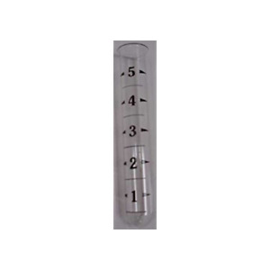 """Ancient Graffiti Replacement Tube Rain Gauge Glass with Lip at Top 6"""" Tall"""
